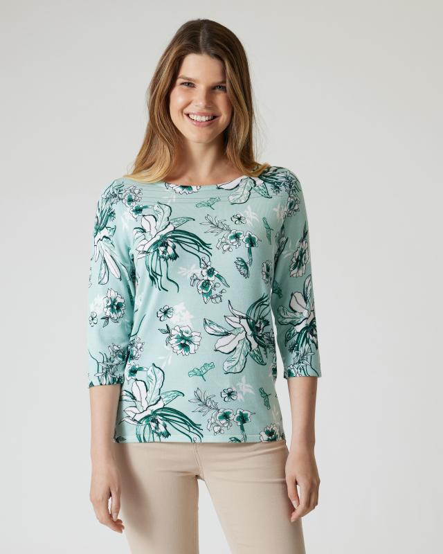 Pullover mit Blütendruck