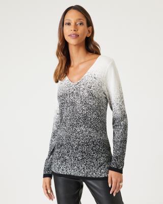 Pullover mit Sprühdruck