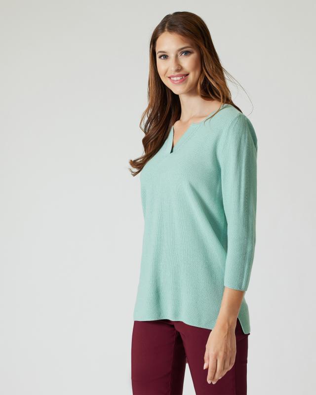 Feinstrick-Pullover mit Baumwoll-Anteil