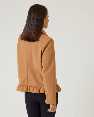 Jacke mit Rüschenkante