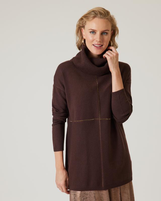 Pullover mit Rollkragen & Strass