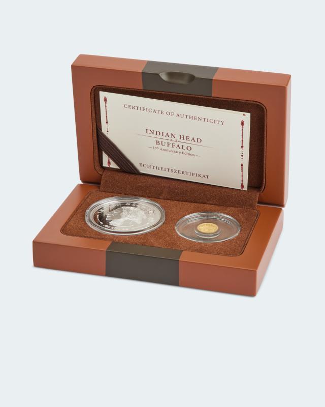 Gold-Silber-Set American Buffalo