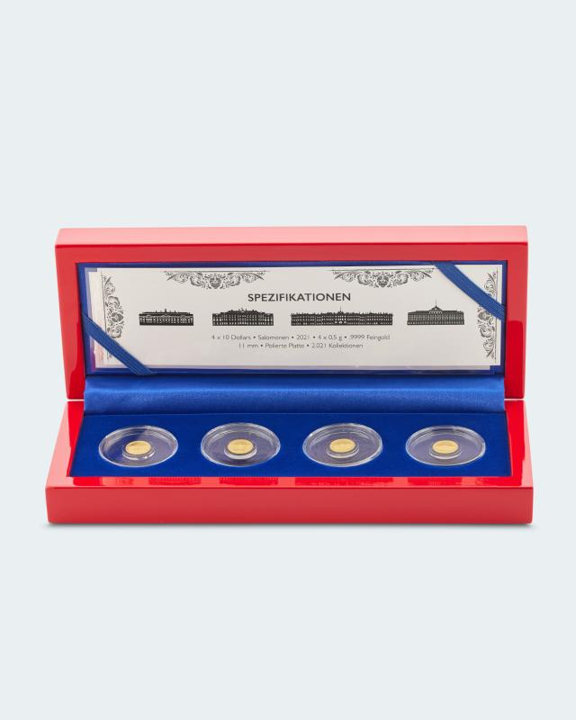 Goldmünzen Residenzen Russlands 2021, 4tlg.