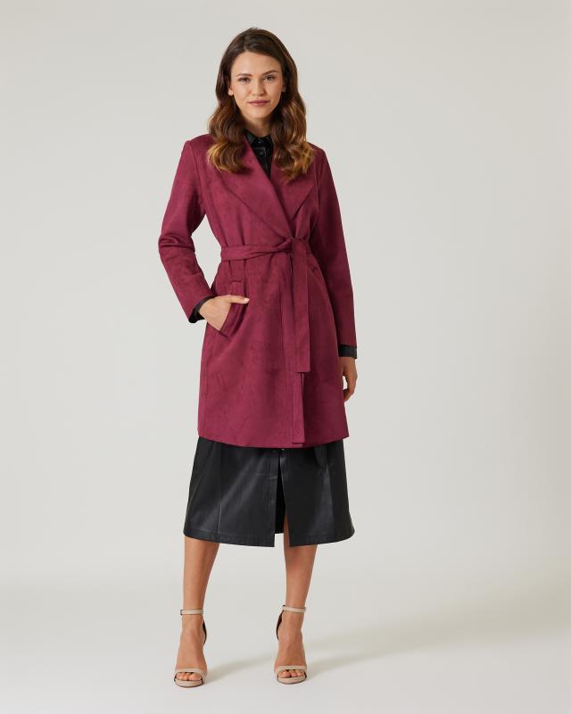 Mantel aus Lederimitat