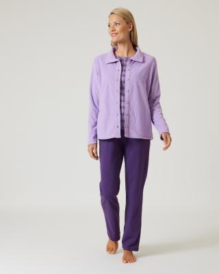 Set: Pyjama mit Fleecejacke