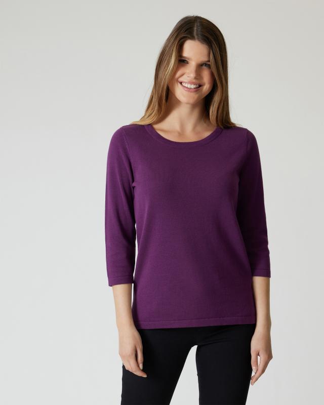 Supima Cotton Pullover im Uni-Design