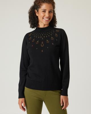 Pullover mit Strassdeko