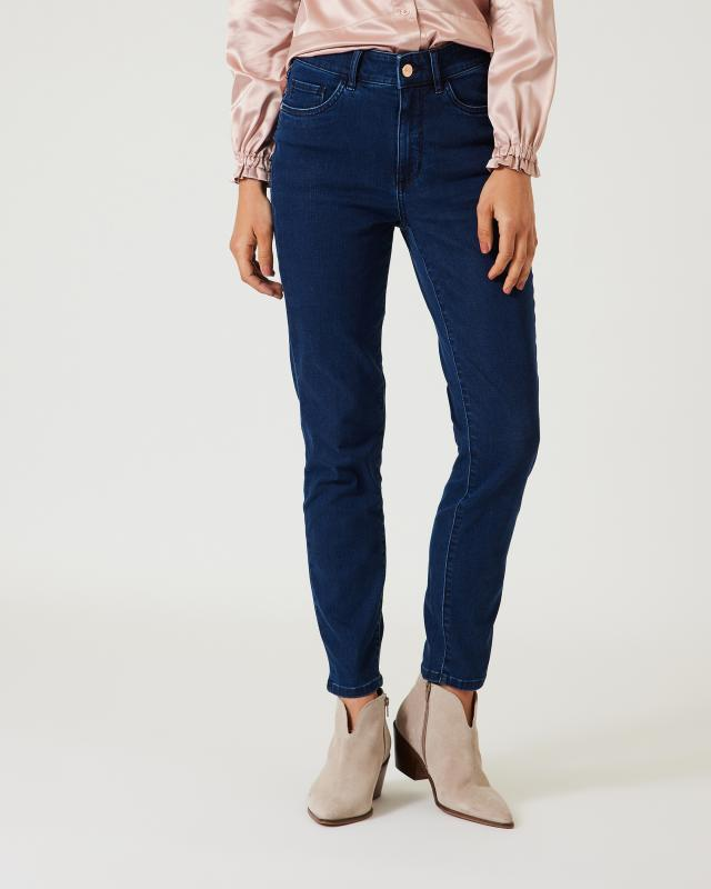 Ankle-Jeans mit Strass