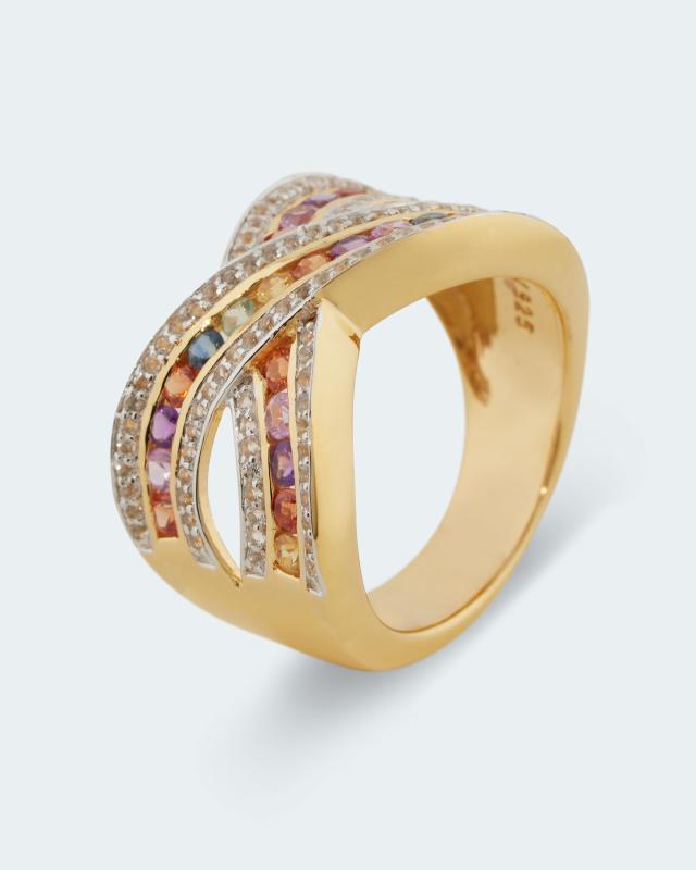 Ring mit Multi-Saphir