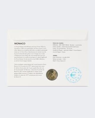 2 € Numisbrief 15.Todestag Rainier III.