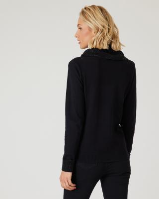 Pullover mit Strasskragen