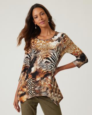 Shirt mit Animal-Druck