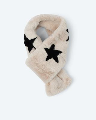 Webpelz-Schal mit Sternen