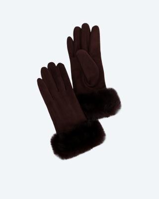 Handschuhe in Veloursleder-Optik