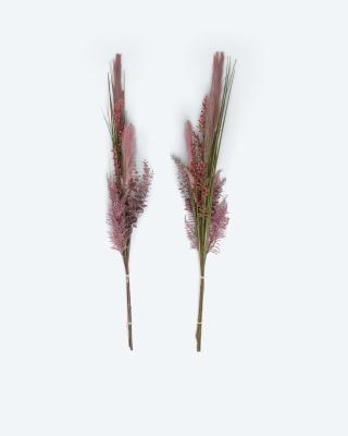 Kunstgrasbündel Trockenblumen-Optik, 2tlg.