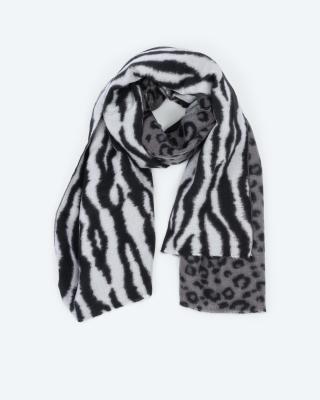 Schal mit Animal-Druckmix