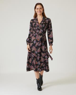 Kleid mit Schalkragen
