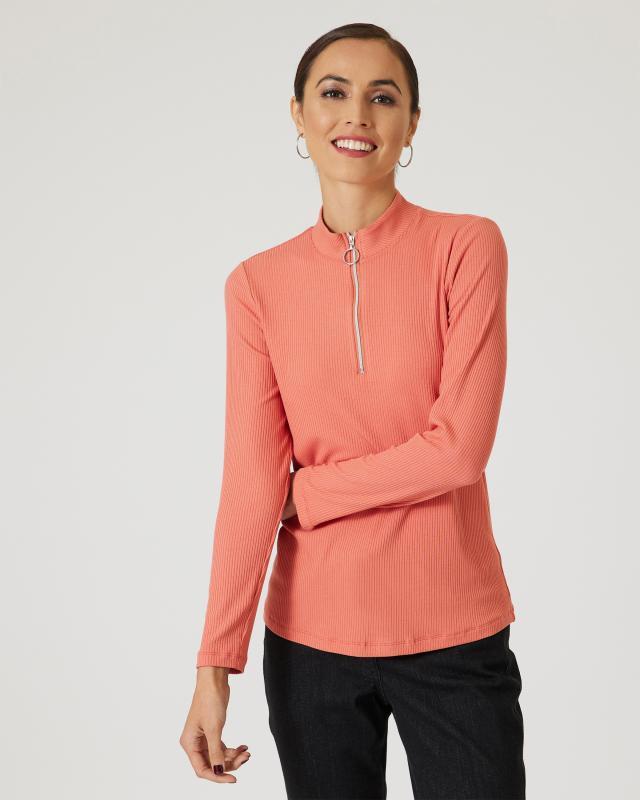 Janaina FASHION Troyer-Shirt mit Zipper