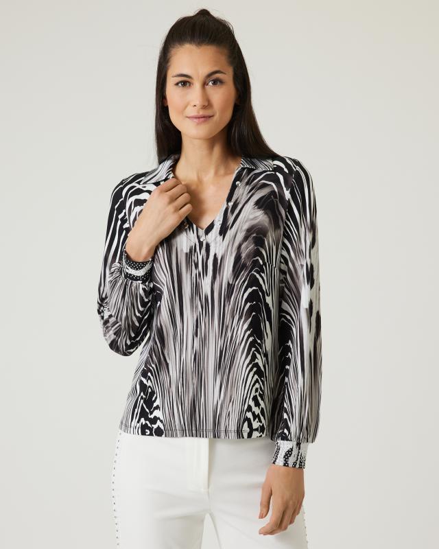 Blusenshirt mit Zebradruck