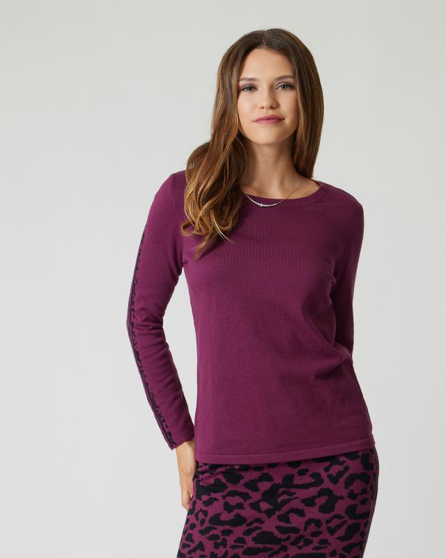 Pullover im Leo-Design