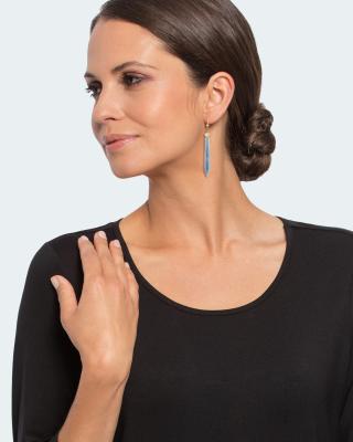 Ohrhänger mit Opal und Bergkristall-Blattgold-Dublette