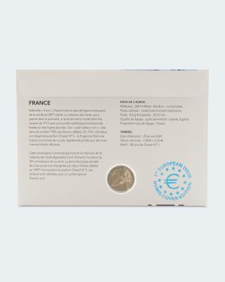 Numisbrief Frankreich Coco Chanel
