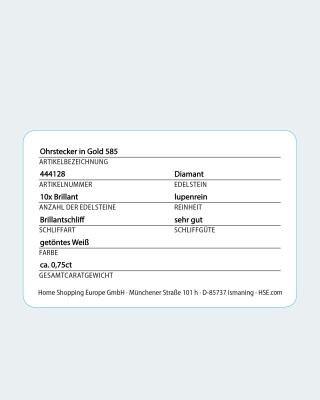 Brillant-Ohrstecker mit 0,75 Karat