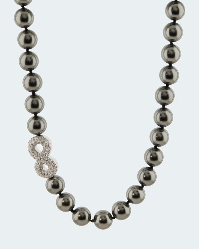 Collier MK-Perle 12mm & Zirkonia