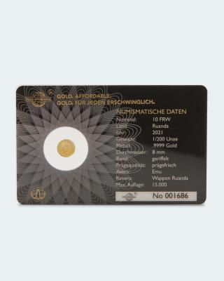 Goldmünze 25 Jahre Emu Australien