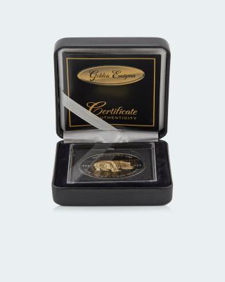 Golden Enigma Münze Nilpferd Mandala 2020