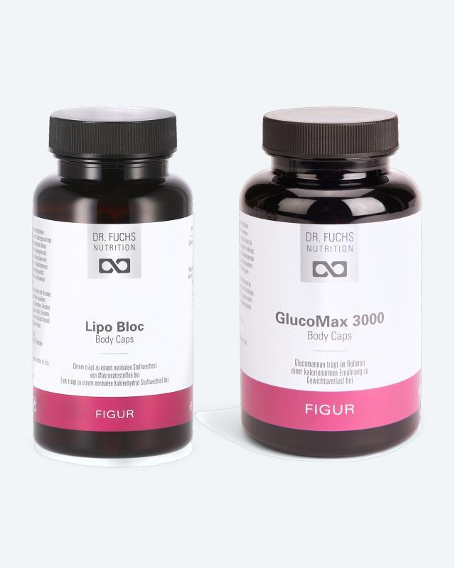 Lipo Bloc Body Caps, 90 Kps. + GlucoMax Caps, 120 Kps.